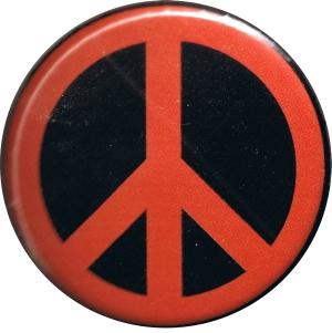 37mm Magnet-Button: Peacezeichen (schwarz/rot)