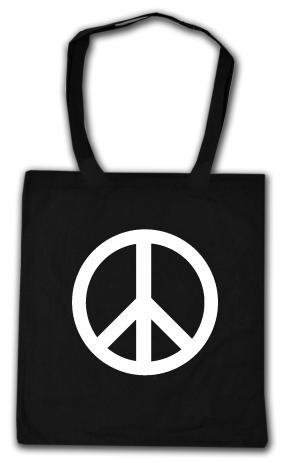 Baumwoll-Tragetasche: Peacezeichen