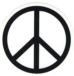 Aufkleber: Peacezeichen