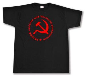 T-Shirt: Pegida rasieren und Verstand einhämmern