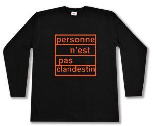Longsleeve: personne n´est pas clandestin (orange)