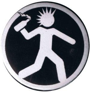 25mm Magnet-Button: Punker mit Molli