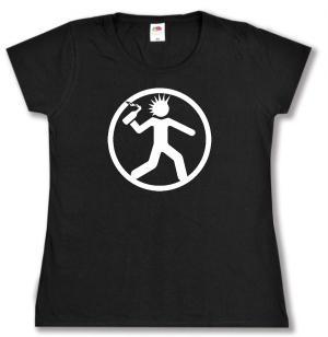 tailliertes T-Shirt: Punker mit Molli