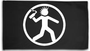 Fahne / Flagge (ca. 150x100cm): Punker mit Molli