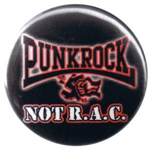 37mm Button: Punkrock not R.A.C.