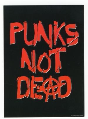 Postkarte: Punk's not dead