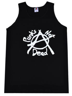 Man Tanktop: Punks not Dead (Anarchy)