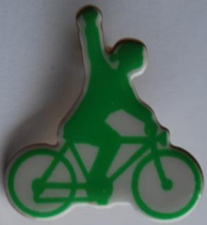 Anstecker / Pin: RadfahrerIn