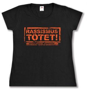 tailliertes T-Shirt: Rassismus tötet!