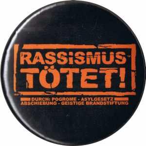 37mm Magnet-Button: Rassismus tötet!