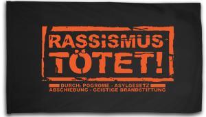 Fahne / Flagge (ca. 150x100cm): Rassismus tötet!