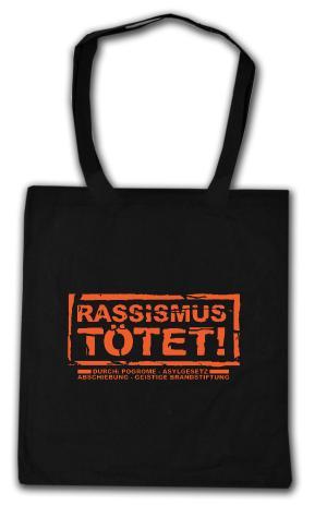 Baumwoll-Tragetasche: Rassismus tötet!