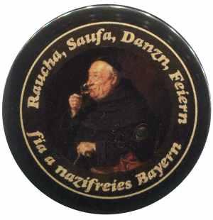 25mm Magnet-Button: Raucha Saufa Danzn Feiern
