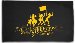 Fahne / Flagge (ca. 150x100cm): Reclaim the Streets