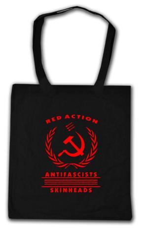 Baumwoll-Tragetasche: Red Action
