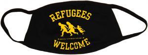 Mundmaske: Refugees welcome