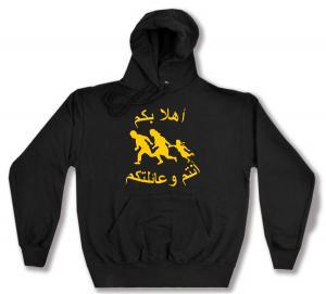 Kapuzen-Pullover: Refugees welcome (arabisch)
