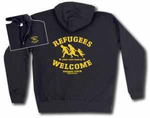 Kapuzen-Jacke: Refugees welcome Linksjugend