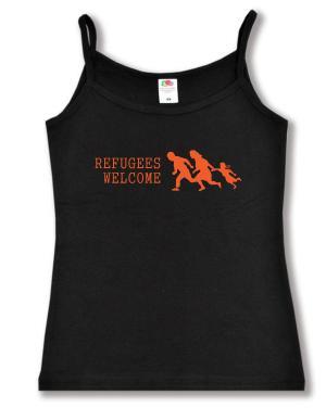 Top / Trägershirt: Refugees welcome (running family)