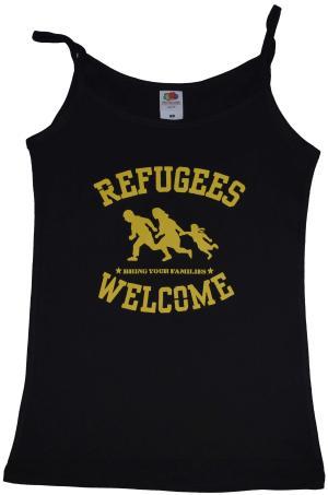 Top / Trägershirt: Refugees welcome