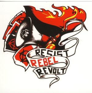 Aufkleber-Paket: Resist Rebel Revolt