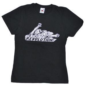 tailliertes T-Shirt: Revolution!