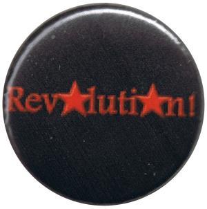 50mm Magnet-Button: Revolution! (schwarz)