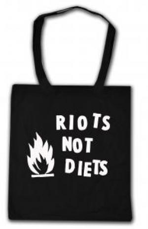 Baumwoll-Tragetasche: Riots not diets