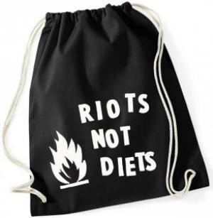 Sportbeutel: Riots not diets