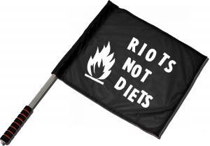 Fahne / Flagge (ca. 40x35cm): Riots not diets
