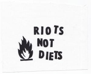 Aufnäher: Riots not diets