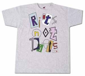 T-Shirt: Riots not diets Linksjugend