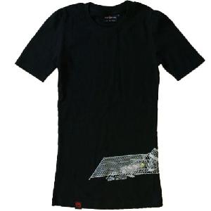 tailliertes T-Shirt: Roadworks