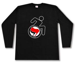 Longsleeve: RollifahrerIn Antifaschistische Aktion (rot/schwarz)