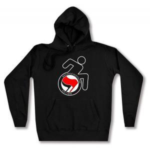 Woman Kapuzen-Pullover: RollifahrerIn Antifaschistische Aktion (rot/schwarz)