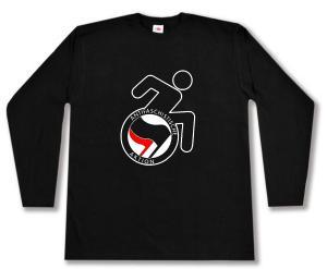 Longsleeve: RollifahrerIn Antifaschistische Aktion (schwarz/rot)