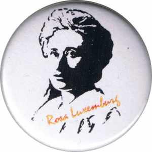 25mm Button: Rosa Luxemburg