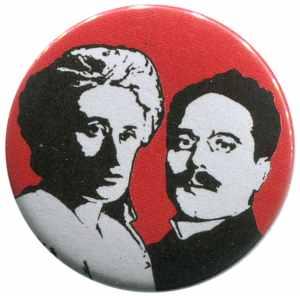 50mm Button: Rosa Luxemburg / Karl Liebknecht
