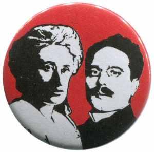 37mm Button: Rosa Luxemburg / Karl Liebknecht