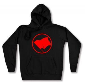 taillierter Kapuzen-Pullover: Rote Fahne