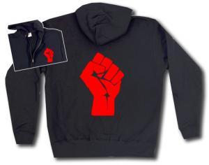 Kapuzen-Jacke: Rote Faust