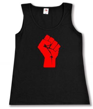 Woman Tanktop: Rote Faust
