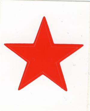 Aufkleber: Roter Stern