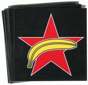 Aufkleber-Paket: Roter Stern + Banane