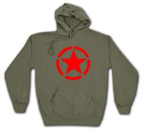 Kapuzen-Pullover: Roter Stern im Kreis (red star)