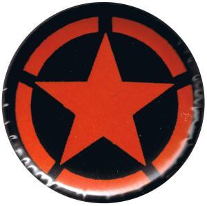37mm Button: Roter Stern im Kreis (red star)