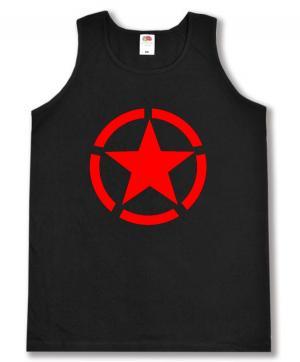 Tanktop: Roter Stern im Kreis (red star)