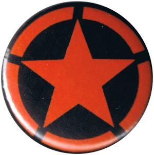 50mm Magnet-Button: Roter Stern im Kreis (red star)