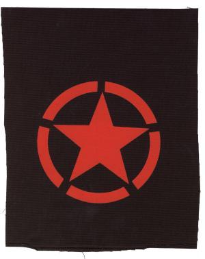 Aufnäher: Roter Stern im Kreis (red star)