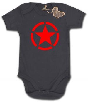 Babybody: Roter Stern im Kreis (red star)